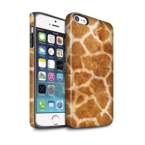 STUFF4 Matte Harten Stoßfest Hülle / Case für Apple iPhone 6 / Leopard Muster / Tierpelz Muster Kollektion Giraffe