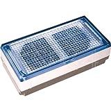 Wartungsfreier Solar Pflasterstein 10x20cm mit LED blau