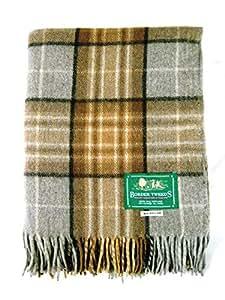 Scotland Tweed All Wool Picnic Blanket - Natural Mackellar