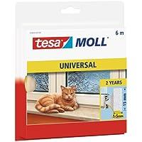 tesamoll Schaumstoffdichtung für Fenster und Türen, einfache Qualität, 6m x 15mm