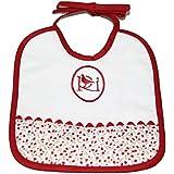 Colección Rosabel Luz - Babero, color blanco y rojo