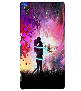 Fuson Love Couple Back Case Cover for SONY XPERIA Z4 - D3962