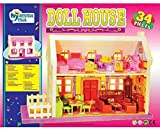 #2: Electrobot Doll House Play Set, Doll House With Master Bedroom, Dining Room, Living Room, Bath Room, Infant Room, 34 Pieces