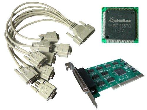 KALEA-INFORMATIQUE ©-Controller Karte SERIE/RS232 auf PCI, 8 Ausgänge, Chipsatz SYSTEMBASE SBC16C1058PCI-Rucksack/LINUX/95-98, WIN 2000, ME, NT - 2003/VISTA/2008-SEVEN (32/64) Nt-serie