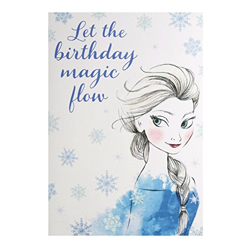 "Hallmark Disney Frozen Geburtstag Karte""Elsa–Medium"