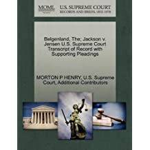 Belgenland, The; Jackson V. Jensen U.S. Supreme Court Transcript of Record with Supporting Pleadings