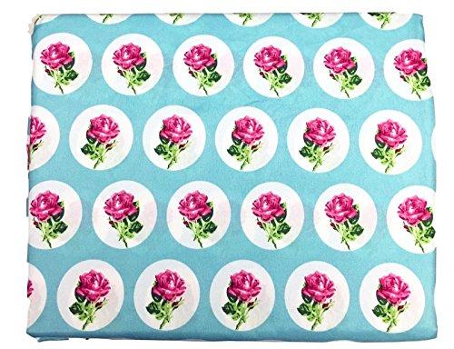Besey Johnson Full Size Bedding Sheet Set Flower Dot Rose (Johnson Rock Betsey)
