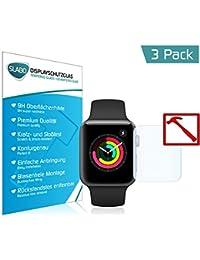 Slabo 3 x Lámina de Vidrio Premium para Watch Series 3 (42mm) Protector de Pantalla Templado Tempered Glass Claro 9H