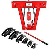 Dobladora Hidraulica de tubos Curvadora máquina 12T profesional con accesorios de curvado