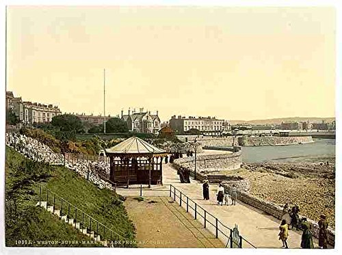 Photo Parade ie promenade from Anchor Head Weston super Mare A4 10x8 Poster Print - Weston Place