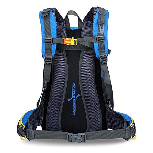 Ben Sports 40L Large Capacity Wandern Rucksack für Männer und Frauen, Outdoor Breathable Wasserdichte Rucksack, Wandern Daypack Blau