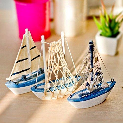 Teabelle Holz Segelboot Modellschiff Nautisches Maritim Zimmer Tisch Dekoration Ornament Geschenk 13cm
