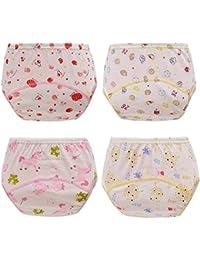 HaimoBurg 4er Pack Wasserdicht Baby Lernwindel Trainerhosen Unterwäsche Windeln Windelhose zum Toilettentraining Töpfchentraining 5-24 Monaten