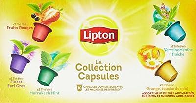 Lipton Thés/Infusions La Collection Coffret 10 Capsules 25 g Compatibles Nespresso