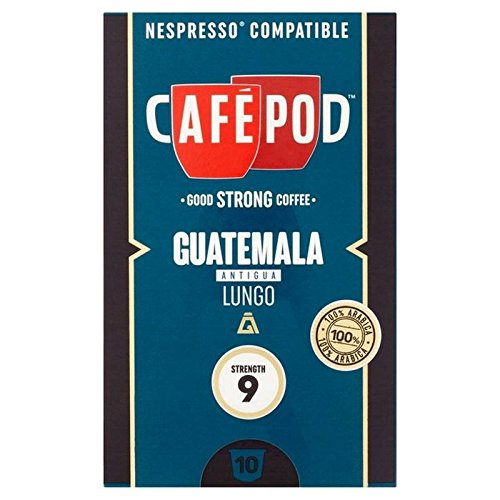 Choose CafePod Origins Guatemala Nespresso Compatible Capsules 10 per pack by CafePod