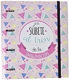 Grupo Erik Editores Amelie Classic - Carpeblock con 4 anillas, 32 x 27.5 cm, color rosa