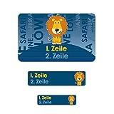 Striefchen® Schulaufkleber - Löwe - 177 Etiketten mit Namen in 3 verschiedenen Größen