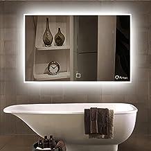 anten 80 x 60cm 19w specchio luce led con illuminazione interruttore per il bagno camera da letto ingresso ac 100 240v temperatura di colore 6000k