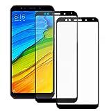 Electro-weideworld [2-Pack] Xiaomi Redmi 5 Plus Protection écran, [Couverture Complète] Protection écran Verre Trempé Film protecteur d'écran pour Xiaomi Redmi 5 Plus, Noir