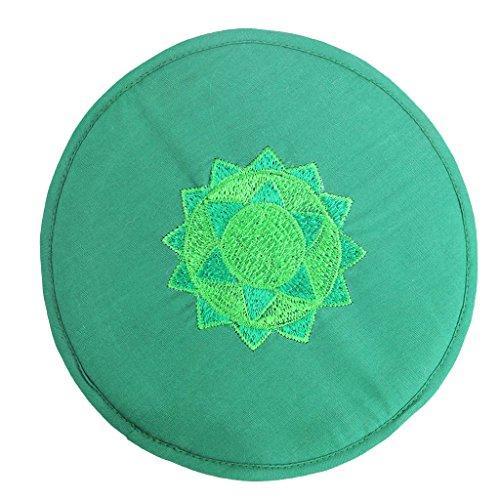 Homyl Elegante und Exquisite Stickmatte Handgemachte Grüne Stickerei Baumwolle Matte Tisch Pad Deko Matte - Grün 20 cm