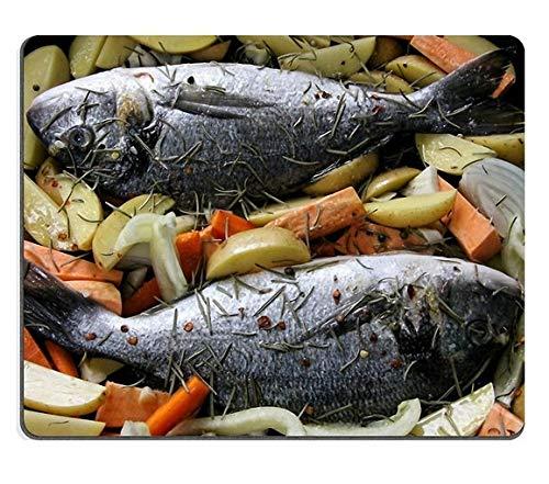 17P16664 Hochwertige Kreativität Mousepad Gaming Mouse Pad Meeresfrüchte Fisch Kochen Brachsen Naturkautschuk Material