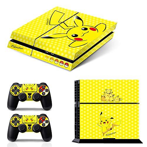 Ci-Yu-Online Vinyl-Aufkleber für PS4 / Playstation 4 / Playstation 4 / Konsole und Controller, Motiv: Pikachu, Gelb