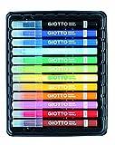 Giotto- Decor Textile Pennarelli per Tessuti (8 Colori Standard + 4 Colori Fluo)