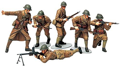 TAMIYA 300035288 - WWII Figuren-Set Französische Infanterie (6), Militär-Bausatz 1:35