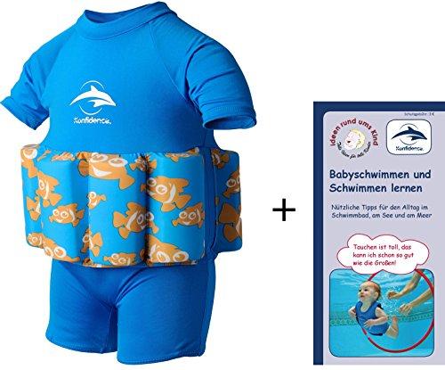 a601b58522e3 Float Suits, traje flotador de ayuda en natación con óptima libertad de  movimiento de brazos, diferentes tamaños y colores, Clownfisch, 4-5 Jahre,  ...