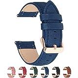 Fullmosa 6 Colores para Correa de Reloj, Cross Piel Correa Huawei Samsung Correa/Banda/Band/Pulsera/Strap de Recambio/Reemplazo 18mm 20mm 22mm 24mm,