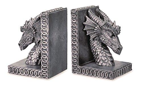 KATERINA PRESTIGE Buchstützen Drachen, 2 Stück, Mehrfarbig