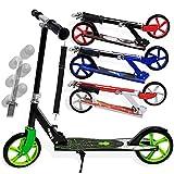Kesser Scooter Roller Kinderroller Cityroller Tretroller Kickroller Kickscooter, Design/Farbe: Spider Grün