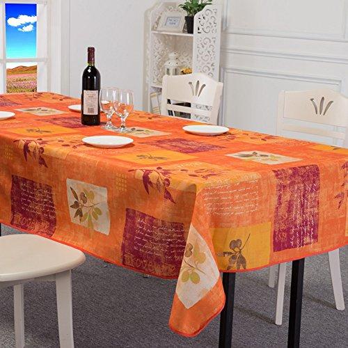 Vibrant Muster Wasserdicht Tischdecke Stoff Tisch Cover, Polyester, Orange, 150 * 200CM