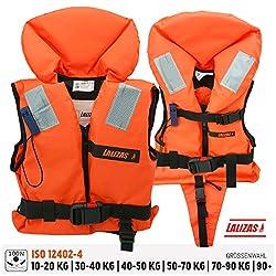 Lalizas   Feststoff-Rettungsweste   Feststoffweste   100 N, CE ISO 12402-4-zertifiziert für Kleinkinder   Kinder   Damen   Herren