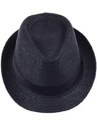Decus 1 Stück Modern Einfach Einfarbig Schwarz Strohhut für Herren/Damen aus PP Braid