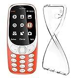 Coque Nokia 3310, MaxKu Etui Silicone Gel Nokia 3310 Housse Antichoc Nokia 3310 Transparente Souple Coque de Protection pour Nokia 3310 (Transparent)