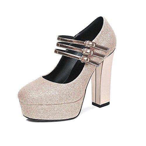 Kevin Fashion - Zapatos de boda a la moda Mujer , color Amarillo, talla 37 EU