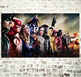 REDWPQ DC Comics Super-Héros Affiche Décoratif Affiches Imprime Toile Papier Peint Home Living Chambre Mur Décor Tissu Oeuvre 40 * 70 Cm sans Cadre