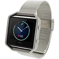 Susenstore Genuine Steel Watchband Wrist Band Strap For Fitbit Blaze Activity Tracker watch