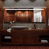 Spiegel ID dein.Spiegel.online Arezzo Design: LED BADSPIEGEL mit Beleuchtung - Made in Germany - Individuell Nach Maß - Auswahl: (Breite) 140 cm x (Höhe) 70 cm