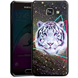 Samsung Galaxy A3 (2016) Housse Étui Protection Coque Tigre dans la galaxie Triangle Triangle