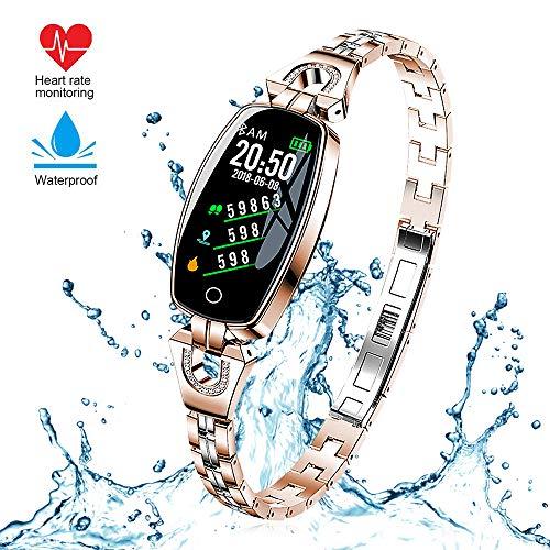 Imagen de reloj inteligente,h8 actividad fitness tracker pantalla en color reloj pulsera con prueba de ritmo cardíaco, reloj bluetooth impermeable step tracker pulsera deportiva monitoreo del sueño, etc.