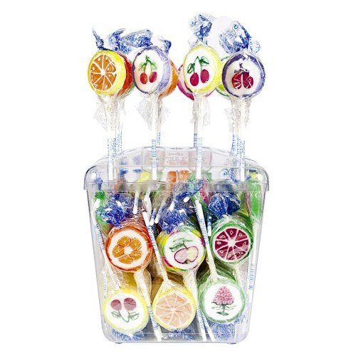 100 Lutscher Tri D Aix Rocks Lutscher Frucht a 10g Orginal Lolly 1kg (Lutscher)
