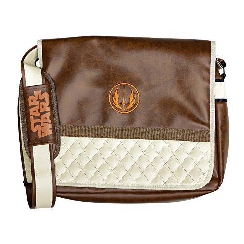 Star Wars Tasche Jedi Order Logo Symbol Messenger Bag 39x32x9,5cm braun (Racer Messenger)