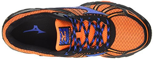 Mizuno Wave Hitogami 4 (W), Chaussures de Running Compétition Homme Orange (Clownfish/strong Blue/dark Shadow)