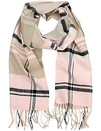 Uleade XXL Schal, Klassisch Karo Damen Herbst Winter Schal warm, weich Orange