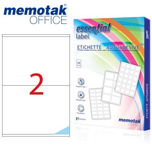 Packung mit 100Blatt A4Etiketten Aufkleber memotak Format in mm 210x 148200Etiketten für Behälter