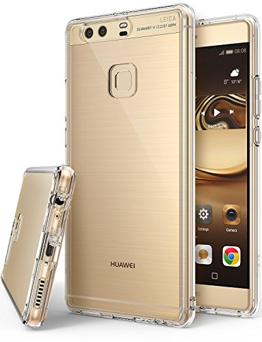 Huawei P9 Plus Hülle, Ringke FUSION kristallklarer PC TPU Dämpfer (Fall geschützt/ Schock Absorbtions-Technologie) für das Huawei P9 Plus - Kristallklar
