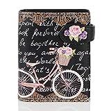 Shagwear Portemonnaie Geldbörse für Junge Damen - Mädchen Geldbeutel portmonaise Designs: (Paris Fahrrad/Paris Bike Black)