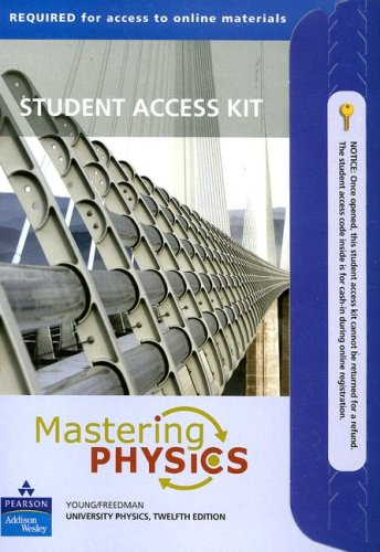 Pearson Mastering Physik, (Mastering Physics: University Physics Student Access Kit)